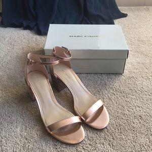 Marc Fisher Safia dress sandals bronze size 9.5